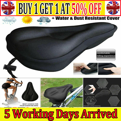 Universal MTB Wide Comfy Cushioned Bike Seat Soft Pad Bicycle Gel Saddle AT • 2.40£
