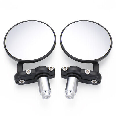 1Pair Handlebar Rear View Mirror Black Bicycle Mobility Scooter MTB MountainBike • 7.99£