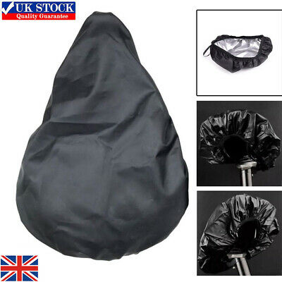 Waterproof Bike Seat Cover Bicycle Saddle Plastic Elastic Rain Cover Protective • 3.89£