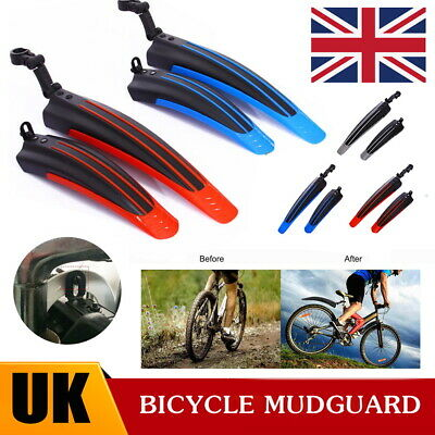 Cycling Mountain Bike Bicycle Front + Rear Tire Fenders MTB Mud Guards Mudguard • 6.49£