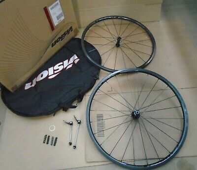 Vision TC24 Carbon Road Wheelset 700C 10/11 SPEED BLACK ~ • 136£