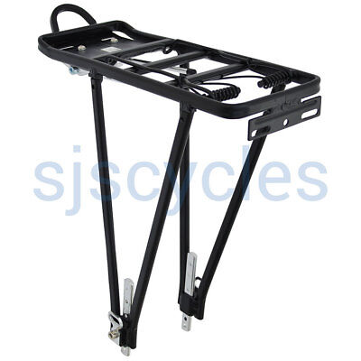 Heavy Duty Aluminum Alloy Bicycle Cycling Bike Rear Pannier Rack Luggage Carrier • 9.99£