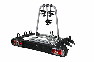 TOW BAR MOUNTED 3 BIKE RACK CYCLE CARRIER WITH LIGHTS And 7 Pin ADAPTOR • 159.99£