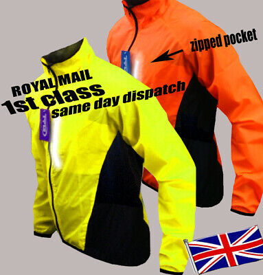 Cycling Jacket Hi Viz Highly Visibile Windproof Waterproof Breathable Riding !!! • 12.96£