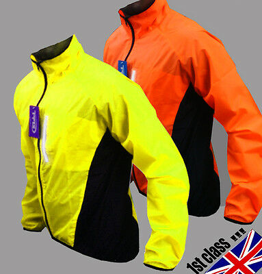 Cycling Jacket Hi Viz Highly Visibile Windproof Waterproof Breathable Riding !!! • 11.96£