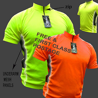 Cycling Jersey Shirt Top Cool Flo Jacket Ideal For Cycling Running Rear Pocket ! • 9.99£