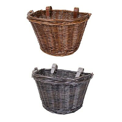 Wicker Bike Bicycle Basket Shopping Basket Cycle Shopping With Handle • 10.99£