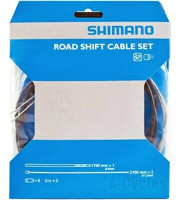 Genuine Shimano Road Gear Shift Cable Set Inner & Outer Cable, Black • 11.85£