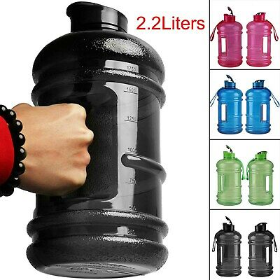 New 2.2L Big Large BPA Free Sport Gym Training Drink Water Bottle Kettle Camping • 8.89£