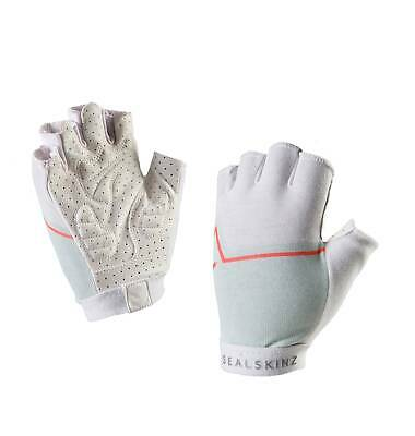 Sealskinz Women's Stelvio Neon Coral/Powder/White Cycle Gloves Medium Or Large • 4.95£