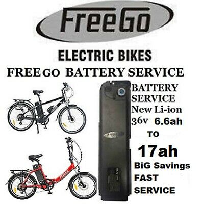 Freego Electric Bike Battery Service From 6.6ah To 17ah Fast Track Service • 599.99£