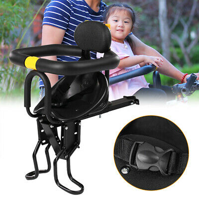 Adjustable Kids Front Bike Seat Child Bicycle Safety Chair Baby Carrier Saddle • 55.99£