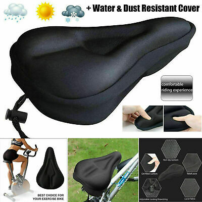 Bike Bicycle Seat Saddle Cover Extra Comfort Padding Soft Gel Cushion Gym Sores • 5.79£