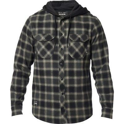Fox Avalon Hooded Flannel Shirt Black • 49.99£