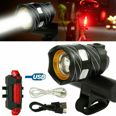 T6 LED MTB Rear&Front Set 15000LM Bicycle Lights Bike Headlight USB Rechargeable • 9.99£