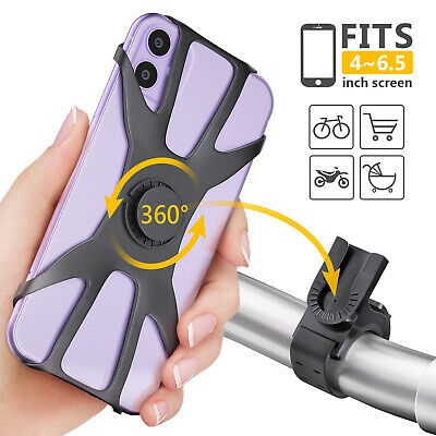 Bike Phone Holder Universal Cycling Handlebar Bicycle Mount 360 Degree Rotating • 7.99£