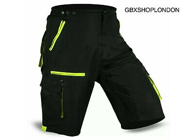 MTB Cycling Short Off Road Bicycle With CoolMax Padded Line Shorts • 13.99£