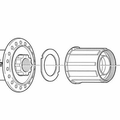 Shimano FH-MC18 Freehub Body For 8/9/10 Speed Cassettes • 19.95£