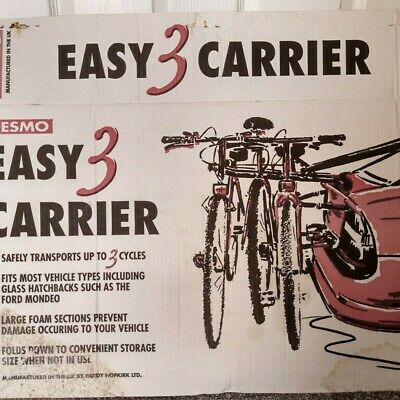 DESMO Car Cycle Carrier Rack For 3 Bikes-barley Used • 5.50£