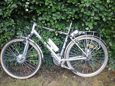 Powabyke X24 Model Silver 21  Inch Electric Bicycle Complete (needs Attention) • 284£
