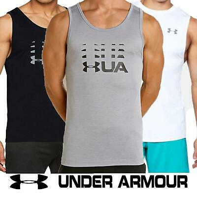 Under Armour Mens Vest UA Sports Sleeveless Gym Fitness Running Polyester Top • 15.99£