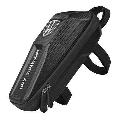Black Bicycle Frame Bag Waterproof Tube Bag Bike Front Frame Bags Case Pouch • 10.11£