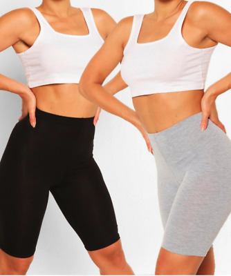 Ladies Cycling Shorts For Casual Wear & Gym/running Leggings Sizes 6-18 • 4.90£