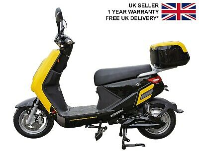 Electric Bike City Style Yellow With Rechargeable Battery 250W Road Legal UK  • 1,195£