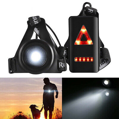 Running Chest Light USB Rechargeable LED Body Torch Waterproof Sport Safety Lamp • 8.99£