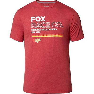 Fox Analog SS Tech Tee Chilli Red • 19.99£