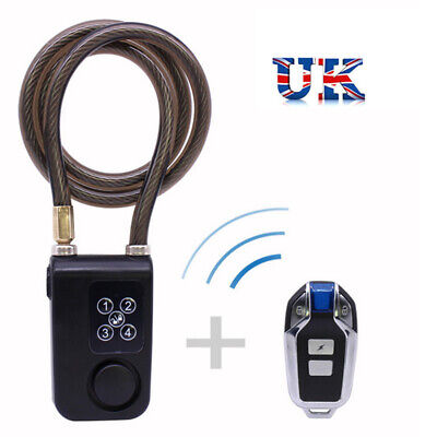 New Wireless Alarm Remote Control Lock Electric Bicycle Motorcycle Code Lock UK1 • 19.50£