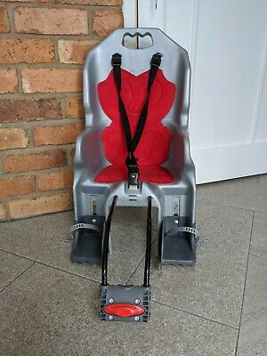 Polisport Joey Child Bike Seat Grey Red Adjustable Rear Mounted Up To Max 22kg • 25£