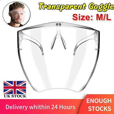 Blocc Face Shield Protective Safety Glasses Guard Anti-smog Cover Visor Washable • 25.20£