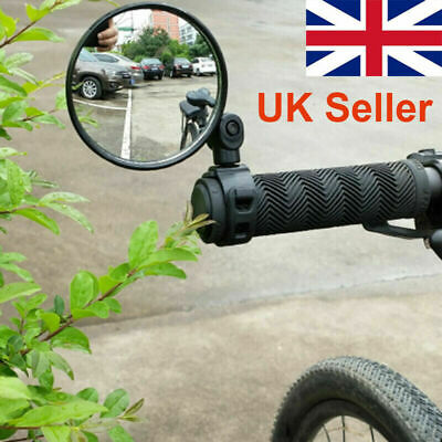 360° Rotate Bike Bicycle Cycling Side Rear View Handlebar Rearview Mirror UK • 3.15£