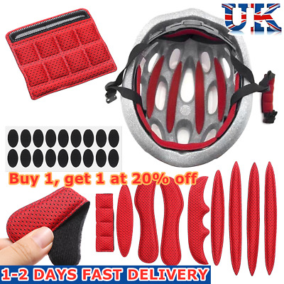 Cycling Replacement Protection Pad Helmet Inner Padding Kit Foam Pads Set UK!! • 3.56£