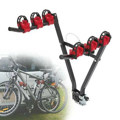 Bike Racks 45kg 3 Bike Carrier Car Back Mount Bicycle Rack Trunk SUV Universal • 21.49£