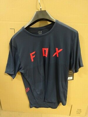 Fox Racing Ranger Short Sleeve Fox Jersey L NAVY~ • 12.51£