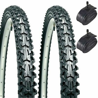 Mountain Bike Tyres Pair - 26X1.95 With Inner Tubes - Raleigh Eiger Rrp £39.95 • 26.37£