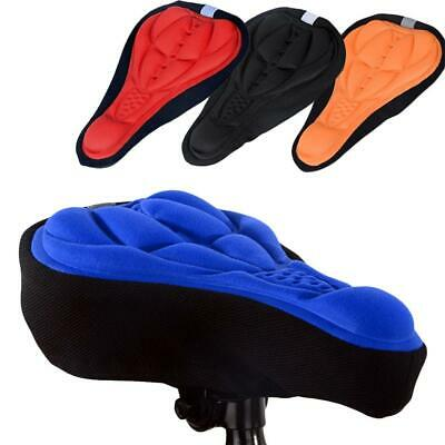 Bike Bicycle Silicone 3D Gel Saddle Seat Cover Pad-Padded Soft Cushion Comfort • 3.69£