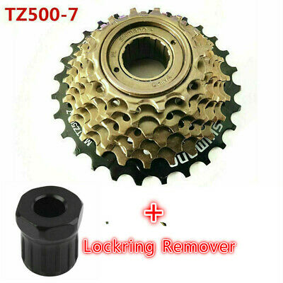 Shimano MF-TZ500 7 Speed MTB Bike Screw-On Freewheel Cassette 14-28T MF-TZ21 Kit • 13.99£