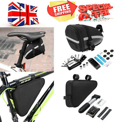 Bike Cycle Bicycle MTB Tool Puncture Repair Kit With Pump Carry Case Bag UK Y7D3 • 10.61£