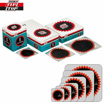 Rema Tip Top Round Tyre Inner Tube Puncture Repair Patches Agri, Truck, Car Bike • 6.95£