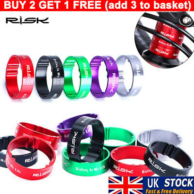 4pcs Aluminum Bicycle Headset Front Fork Washers Spacer Ring Stem Spacers • 4.65£