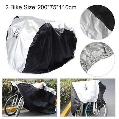 2 Bicycle Waterproof Rust  Bike Cycle Cover Waterproof Anti Rain UV Protection • 9.39£