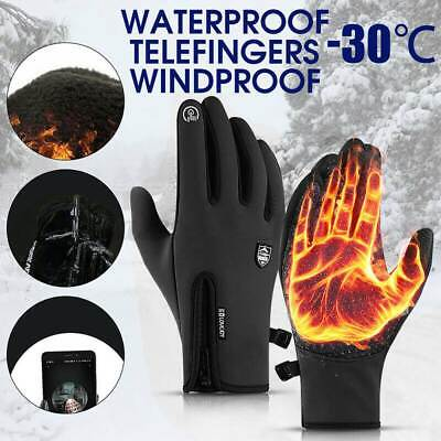 Mens Winter Warm Windproof Waterproof Anti-slip Thermal Touch Screen Ski Gloves • 9.48£