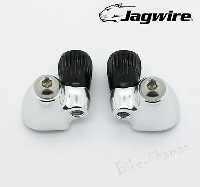 Jagwire STI Downtube Shift Cable Stops Barrel Adjusters For Shimano, Campagnolo • 14.49£