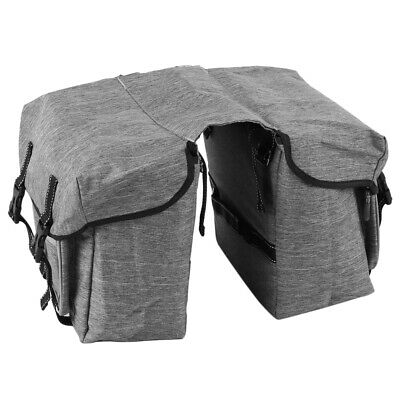 Waterproof Double Panniers Bag Bike Bicycle Cycling Rear Seat Trunk Pack S6C5 • 10.99£