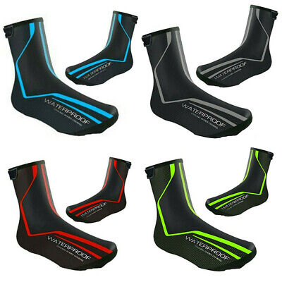 4 COLORS Waterproof Cycling Bike Overshoes Windproof Shoe Cover Thermal Winter • 11.28£