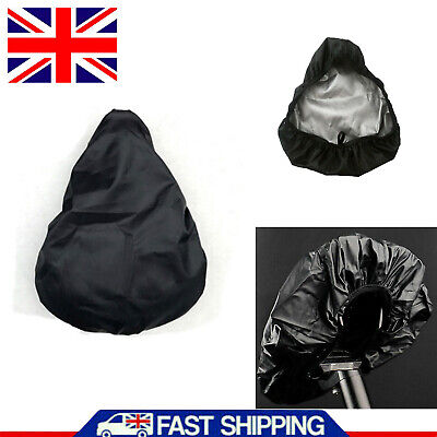 Waterproof Bike Seat Cover Bicycle Saddle Protective Plastic Elastic Rain Cover • 3.69£