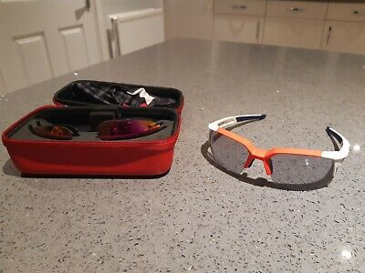 Genuine 100% Speedcoupe Glasses With Case, Bag And Three Pairs Of Lenses • 45£
